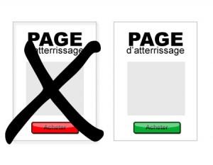 Bouton acheter - Page d'atterrissage - Page destination - Page cible