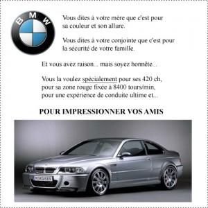 Publicité BMW- Texte publicitaire